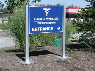 architectural signs - metal  Aluminum - Architectural Signs