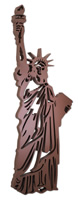 Laser Cut Acrylic Statue of Liberty