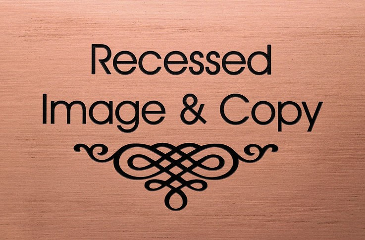 ETCHED & ENGRAVED PLAQUES - etched recessed plaque333d - ETCHED & ENGRAVED PLAQUES