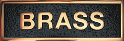 Polished Brass Plaque Materials - Gemini Brass Pol - Materials