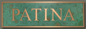 SIGN 2000 Plaque - Optional Parrot Green Patina Finish Optional Finishes - Parrot - Optional Finishes