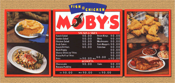 Menu Systems - Indoor Menu 4 17 - Menu Systems