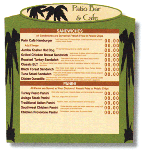 Menu Systems - Indoor Menu 5 SLICES 04 - Menu Systems