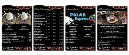 Menu Systems - Indoor Menu 8 12 - Menu Systems