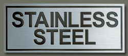 Etched Stainless Steel Alloy CAST STYLE PLAQUES - stainless - CAST STYLE PLAQUES