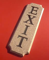 architectural signs - corian - Architectural Signs